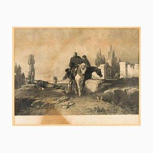 Le Soir de San Fermo - Original Lithograph Late 19th Century Late 19th Century