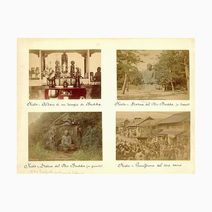 Glimppses of Japanese Shrines in Kyoto - Antique Albumine Print 1870/1890 1870/1890