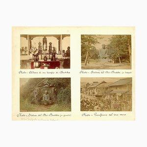 Glimpses of Japanese Schreine in Kyoto - Ancient Albumen Print 1870/1890 1870/1890