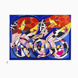 Cyclists - Original Silkscreenn by Ugo Nespolo - 2008 2008