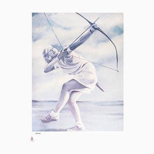 Archery - Original Lithograph by G. Montesano - 2008 2008