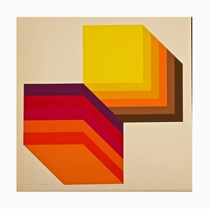 Two Cubes - Original Screen Print by Gianni Colombo - 1972 1972