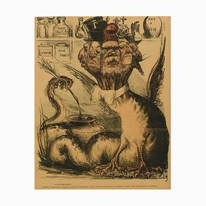 Le Journaliste - Original Chromolithograph - 1901/02 1901/02