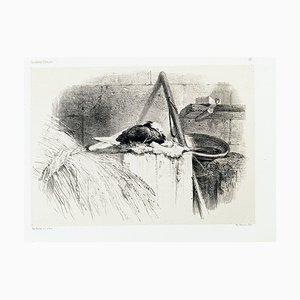 Tige - Original Lithographie von Karl Bodmer - spätes 19. Jahrhundert spätes 19. Jahrhundert