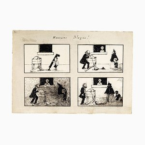 Bad Joke - Original Lithograph 1899 1899