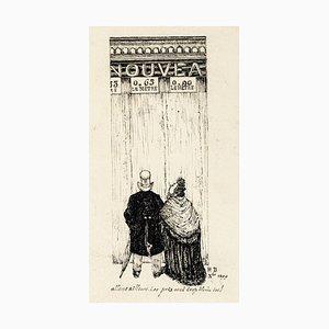 Let's Go Elsewhere - Original Lithograph 1899 1899