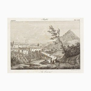 La Cava (The Cave) - Original Etching by Francesco Mochetti - 1843 1843