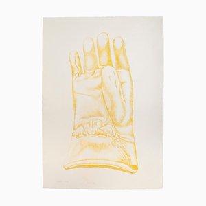 Yellow Glove - Original Radierung von Giacomo Porzano - 1972 1972