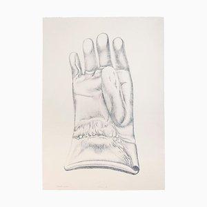 Blue Glove - Original Etching by Giacomo Porzano - 1972 1972