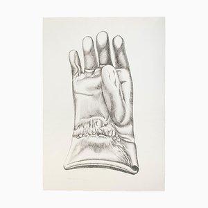Black and White Glove - Original Etching by Giacomo Porzano - 1972 1972