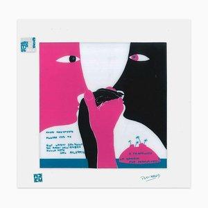 Fluire con te - Screen Print on Acetate by E. Pouchard - 1973 1973