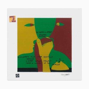 Azzurro Soffuso - Screen Print on Acetate by E. Pouchard - 1973 1973
