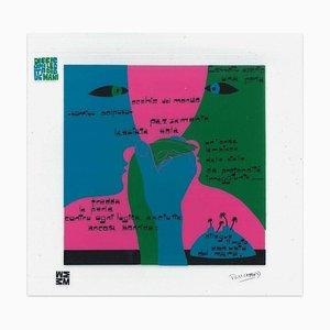 Una Perla - Screen Print on Acetate by E. Pouchard - 1973 1973