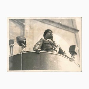 Mussolins Speech to the Crowd - Vintage Photo - 1924 1924