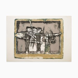 Abstract Composition - Original Lithograph- 1970s 1970s
