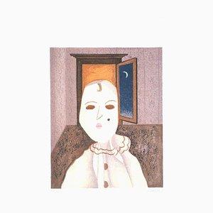 Clown - Original Lithographie von Enrico Benaglia - 1979 1979