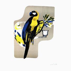 Papagei - Original Lithographie von Carlo Quattrucci - 1971 1971