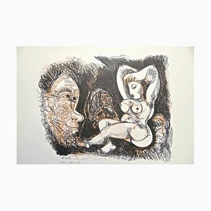 Homage to Pablo Picasso - Original Lithograph 1974 1974
