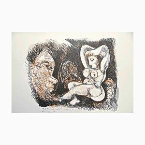 Hommage à Pablo Picasso - Original Lithograph 1974 1974
