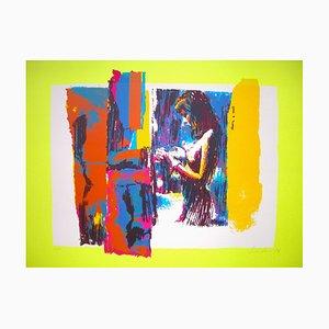 Woman in Yellow - Original Screen Print by Nicola Simbari - 1976 1976