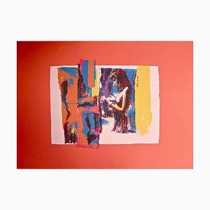 Sérigraphie Femme en Rouge par Nicola Simbari - 1976 1976