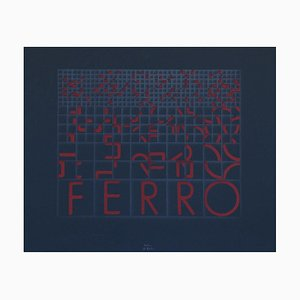Ferro (Iron) - Original Screen Print by Bruno di Bello - 1980 ca. 1980 ca.