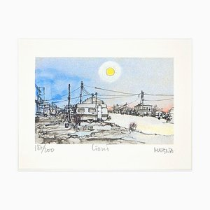 Lioni. Images from the Earthquake - Original Etching by Giuseppe Megna - 1985 1985