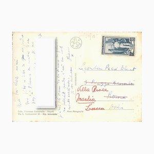 Cocteau's Authgraphed Postkarte - ca. 1953 Ca. 1953
