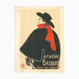 Aristide Bruant dans son Cabaret - Original Litho Nach H. de Toulouse-Lautrec 1951