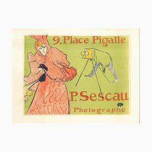 Le Photographe Sescau - Original Litho After H. de Toulouse-Lautrec 1951