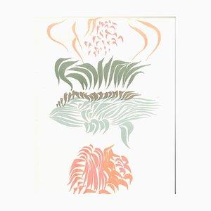 Ohne Titel - Originale Lithographie von J. Hérold - 1974 1974