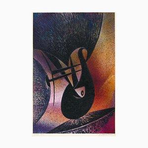 Oiseau Rare - Original Lithographie von J. Chaintrier - 1970 1970