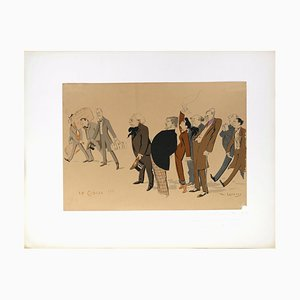 La Classe!!! - Lithograph by Daniel de Losques - Early 20th Century Early 20th Century
