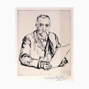 Portrait d'un Homme - Radierung und Kaltnadel von CP Renouard - Früh 1900 Frühes 20. Jahrhundert