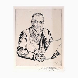 Portrait d'un Homme - Etching and Drypoint by C.P. Renouard - Early 1900 Early 20th Century