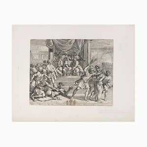 Saint Paul et Silas - Original Etching After Nicolas Poussin - Late 17th Century Lat 17th Century