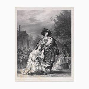 Le Mariage de Figaro - Original Lithographie von LS Marin-Lavigne - 1838 1838