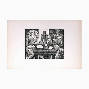 Tavern - Original Etching by Marcel Gromaire - 1952 1952