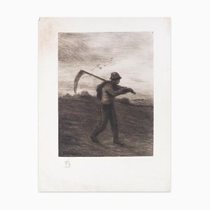 Le Soir - Original Etching by F. Jacques - Early 20th Century Early 20th Century