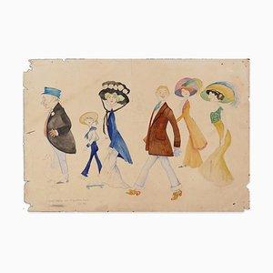 Werbepro fi le für Gymkahna - Original Bleistift, Tinte und Wasserfarbe - 1909 1909