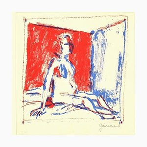 Red Bedroom - Paul Guiramand - 1960s - Lithograph - Contemporary 1960s