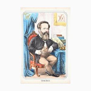 Antonio Ranieri - Lithograph by A. Maganaro - 1872 1872