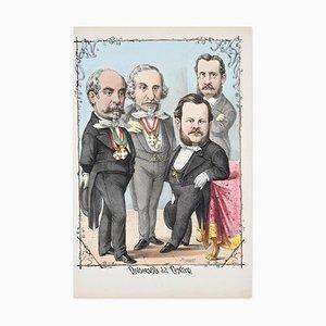 Lithographie Onorevoli Del Centro par A. Maganaro - 1872 1872