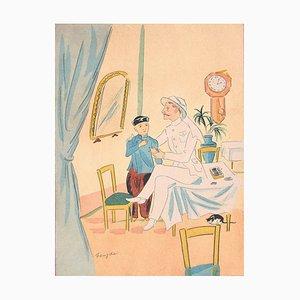 A Colonial Man - Lithographie nach LT Foujita - 1928 1928
