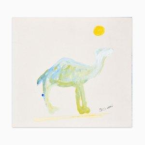 Camel - Oil on Cardboard by Lillo Bartoloni - 1974 1974