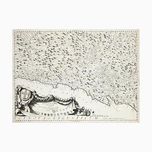 Genova Olim Ligusticum - Original Etching by V. Coronelli - 1684 ca. 1684 ca.