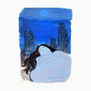 Woman in the Dark - Original Lithographie von R. Chapelain-Midy - 1975 1975