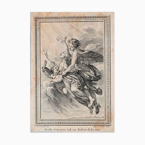 Mon Vol - Original Lithograph After Cochin - Late 18th Century Late 18th Century