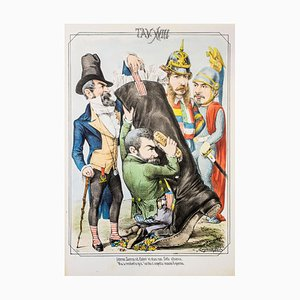 The Ministers - Original Lithograph by A. Maganaro - 1872 1872