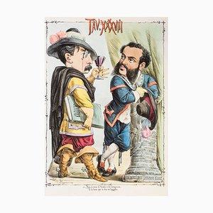 Due Parole a Quattr'occhi - Original Lithograph by Antonio Mangano - 1870s 1870s